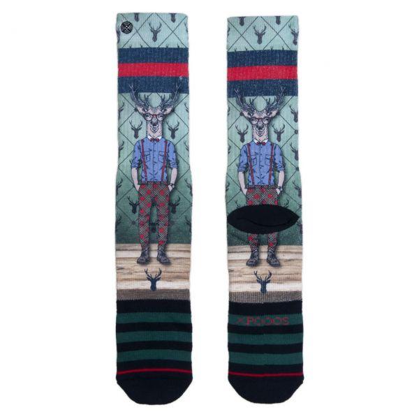 XPOOOS Socken Rudolph
