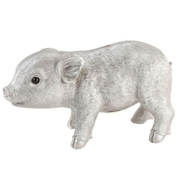 Spardose Schweinchen silber von &klevering
