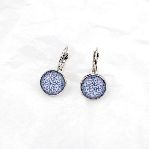 Ohrring Tropfen lila-blau