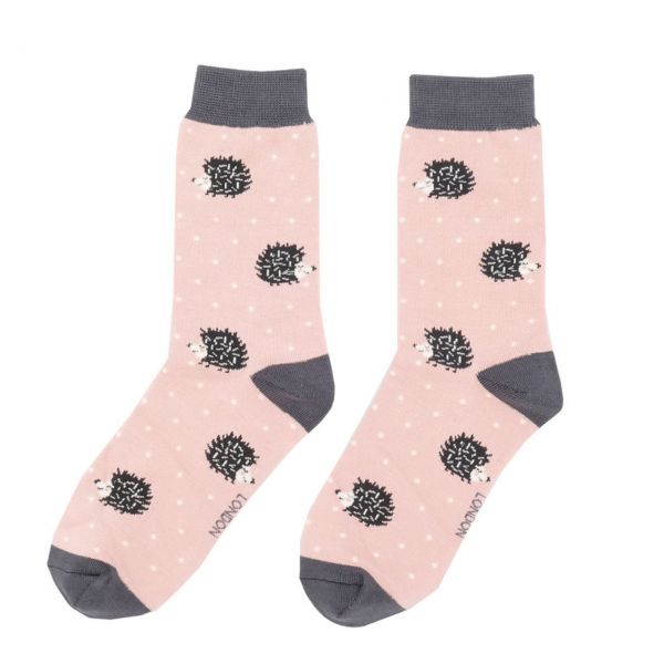 Miss Sparrow Socken Igelchen rosa