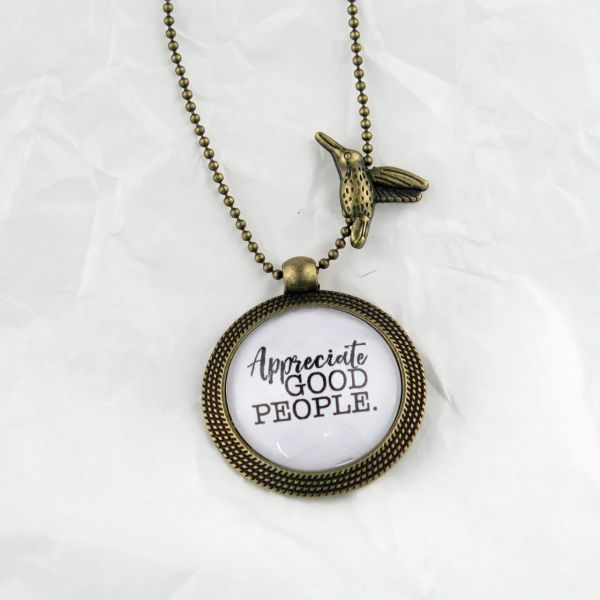 Medaillon-Halskette Appreciate good people