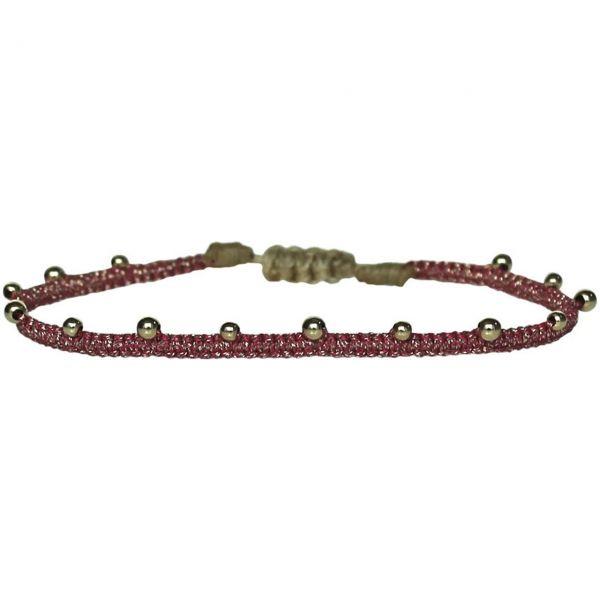 LeJu Armband BL Beads 01 rot/gold