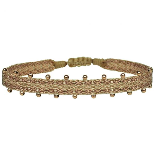 LeJu Armband MT 80 BPL 02 lachs / beige / rosagold