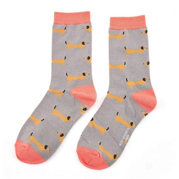 Miss Sparrow Socken Dackel
