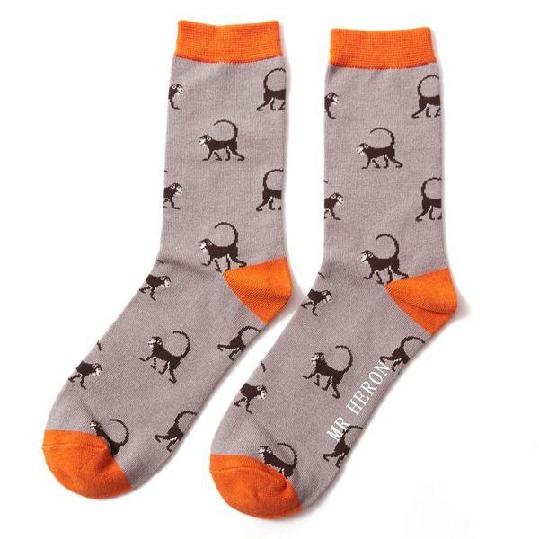 Mr. Heron Socken Affen grau