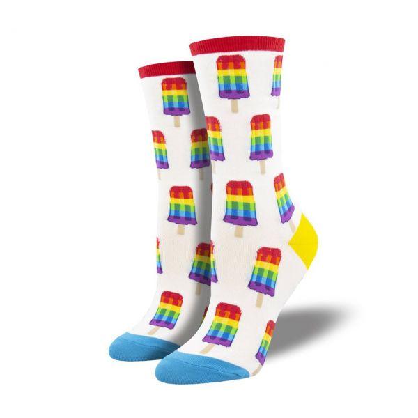 Socksmith Socken Regenbogenglace weiss
