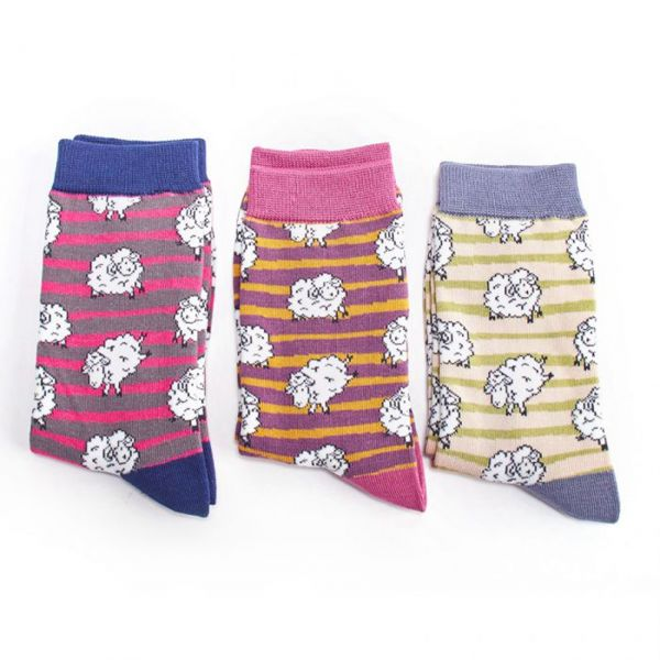 Miss Sparrow Socken Schafe 3er Set