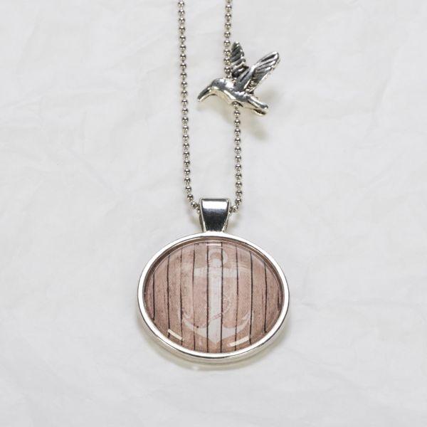 Medaillon-Halskette Anker