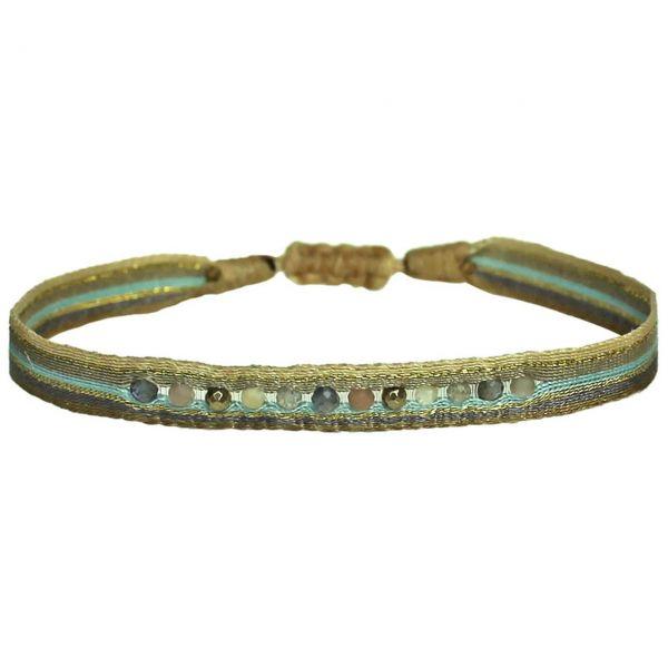 LeJu Armband Mt 80 Color Zip  Halbedelsteine, braun, blau