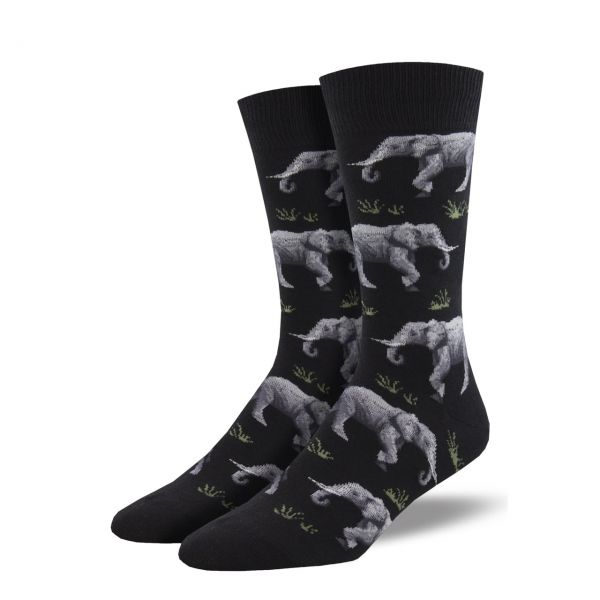 Socksmith Socken Elefanten schwarz