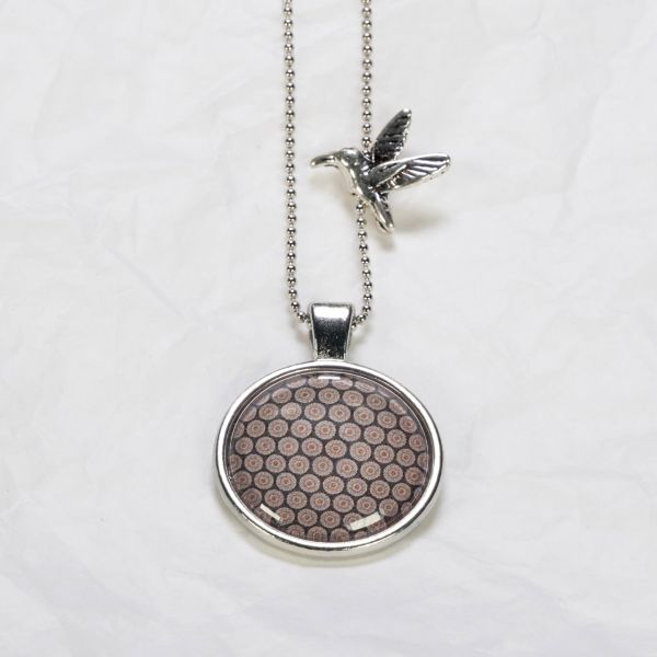Medaillon-Halskette Muster Rostrot