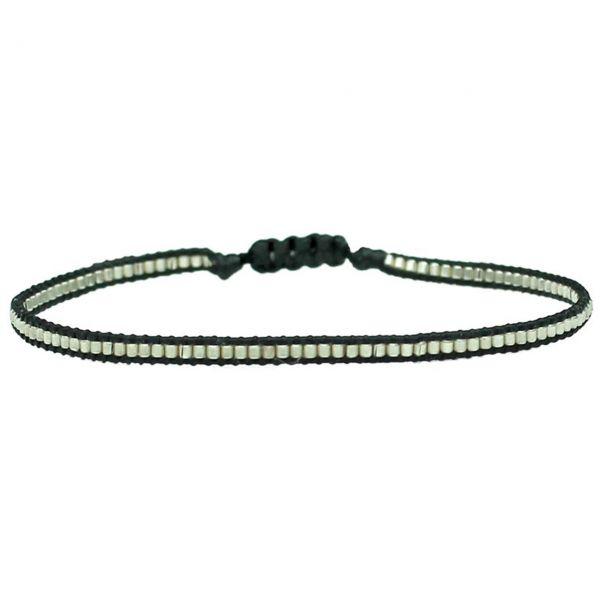 LeJu Armband BL Thin schwarz/silber