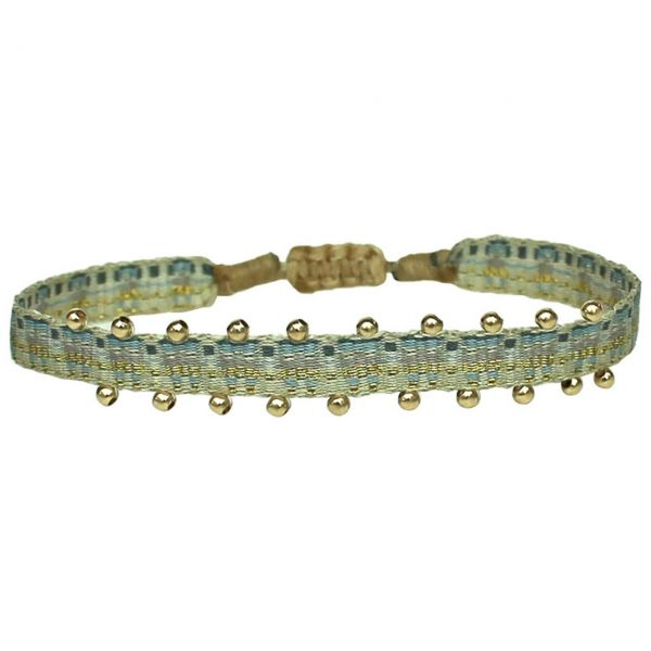 LeJu Armband MT 80 BPL 03 blau / beige / vergoldet