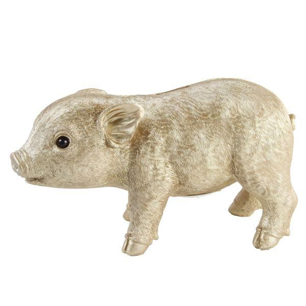 Spardose Schweinchen gold von &klevering