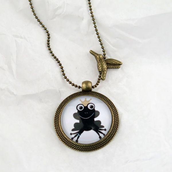 Medaillon-Halskette Froschkönig