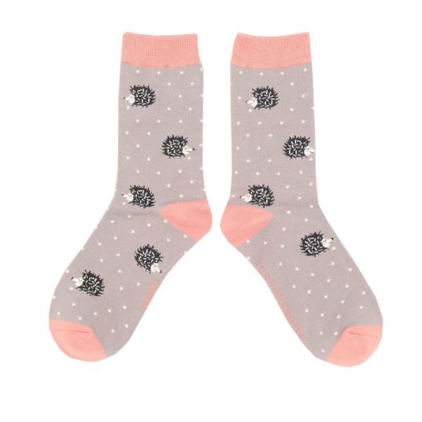 Miss Sparrow Socken Igelchen grau