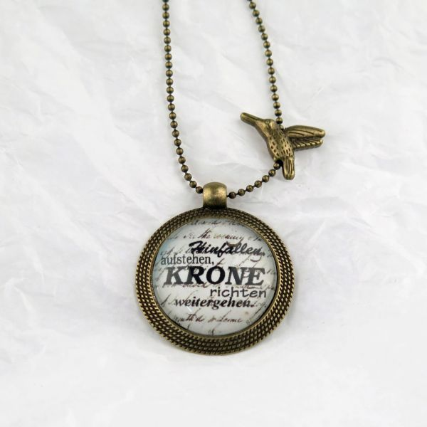 Medaillon-Halskette Krone