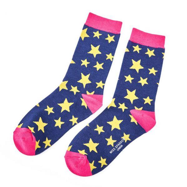 Miss Sparrow Socken Sterne