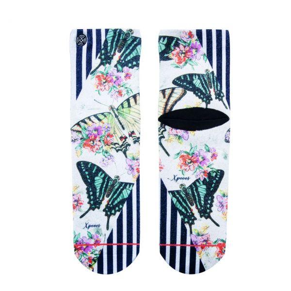 XPOOOS Socken Schmetterlinge