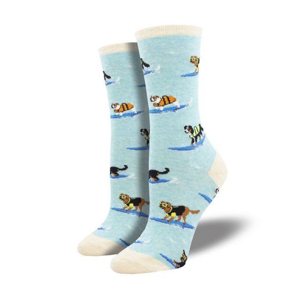 Socksmith Socken Surfhunde hellblau