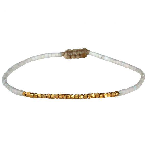 LeJu Armband Thin beige gold