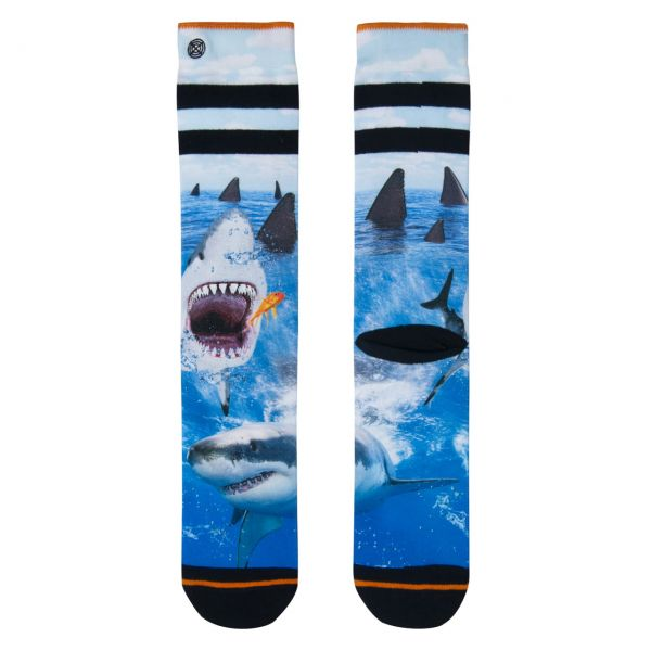 XPOOOS Socken Haifisch