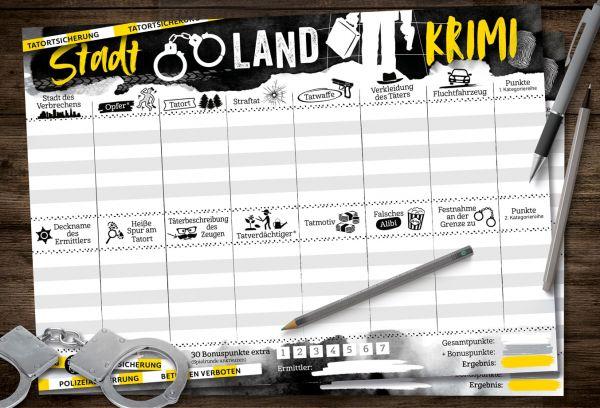 Spielblock Stadt-Land-Krimi