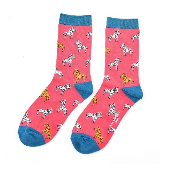 Miss Sparrow Socken Zebras