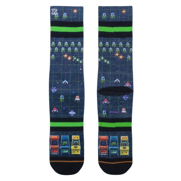 XPOOOS Socken Pixel