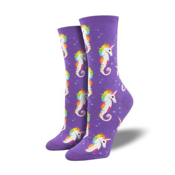 Socksmith Socken Seepferd violett