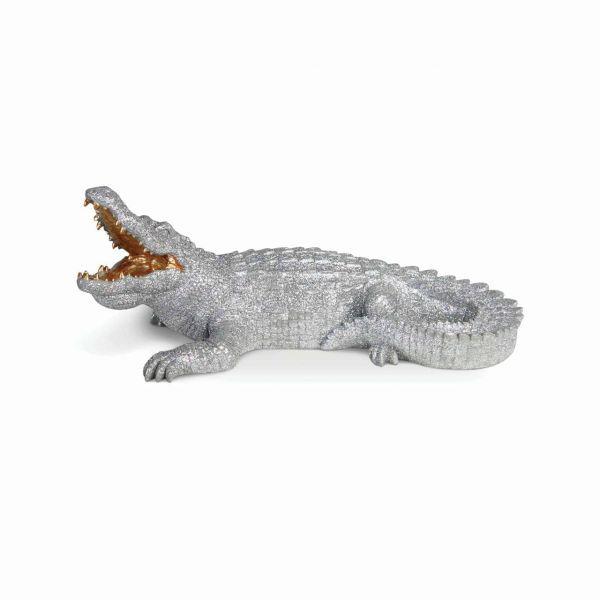 &klevering Spardose Krokodil glitter