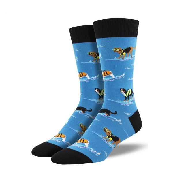 Socksmith Socken Surfhunde blau