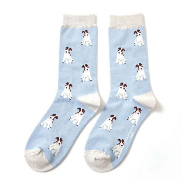 Miss Sparrow Socken Fox Terrier blau