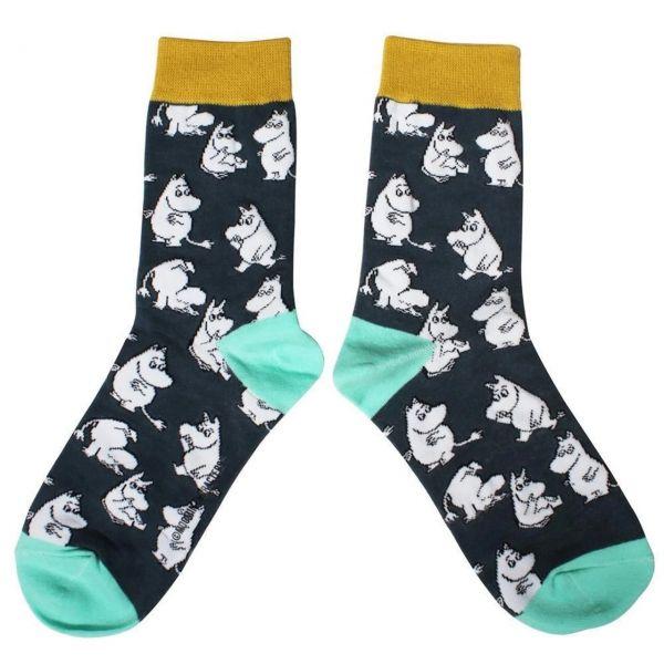 Mumins Socken grau