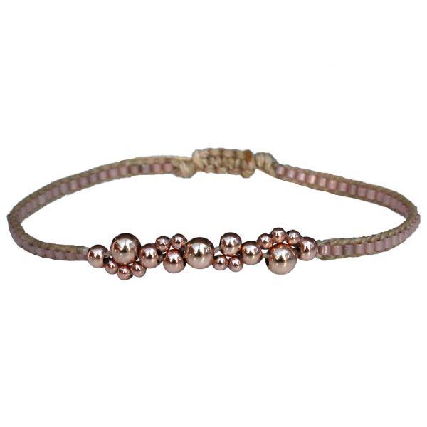 LeJu Armband Bubble beige/rosa