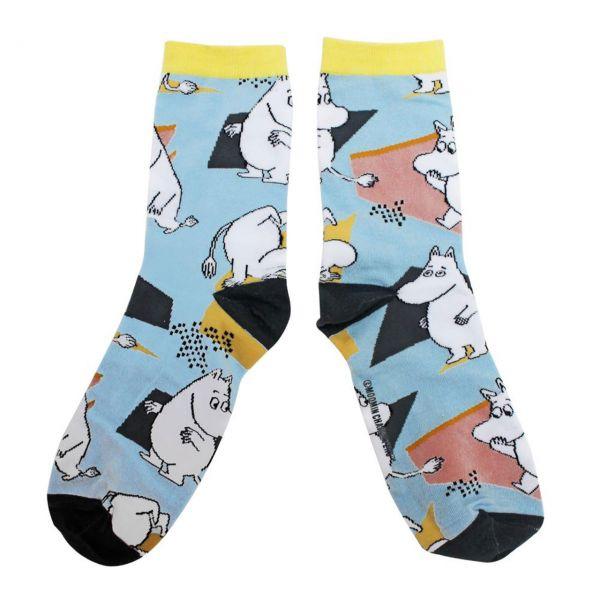 Mumins Socken Retro-Muster front