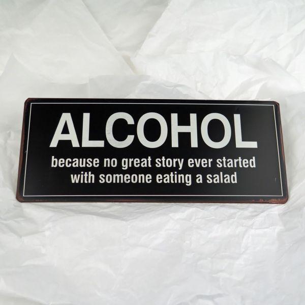 """Deko-Schild """"Alcohol, because..."""""""