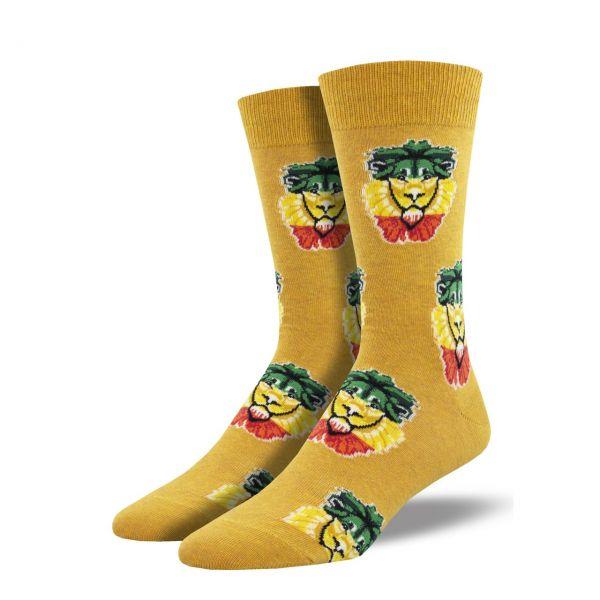 Socksmith Socken Rastalöwe gold