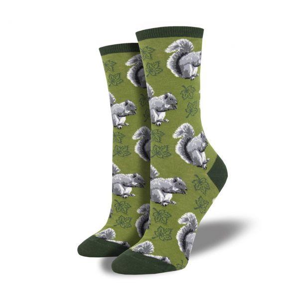 Socksmith Socken Eichhoernchen dunkelgruen