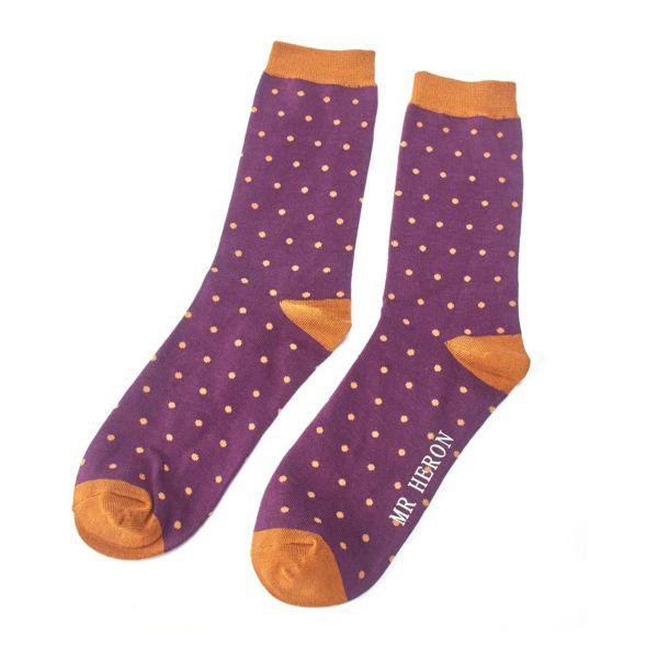 Mr. Heron Socken feine Punkte lila