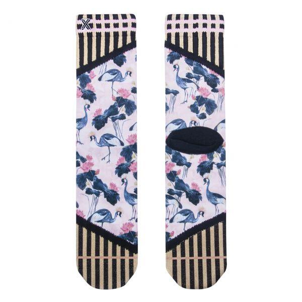 XPOOOS Socken Kraniche
