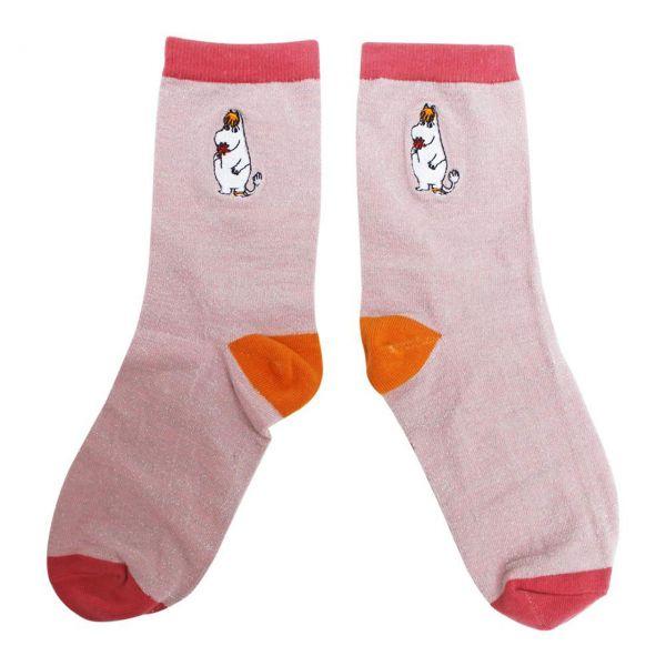 Mumins Socken Snorkfräulein rosa front