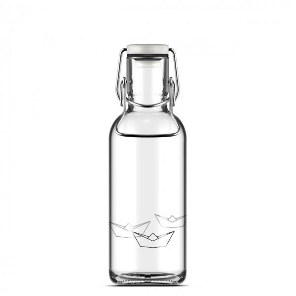 "Flasche ""Origami Boats"" 0,6l von fill me bottle"