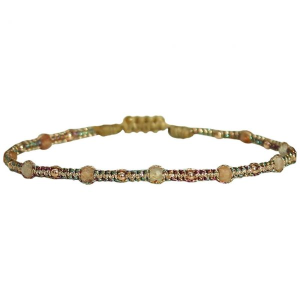 LeJu Armband BL Stone Sand 04 Sonnenstein, rosagold